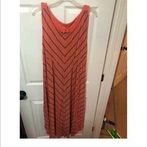 Liz L'ange Maternity Maxi Orange dress size M